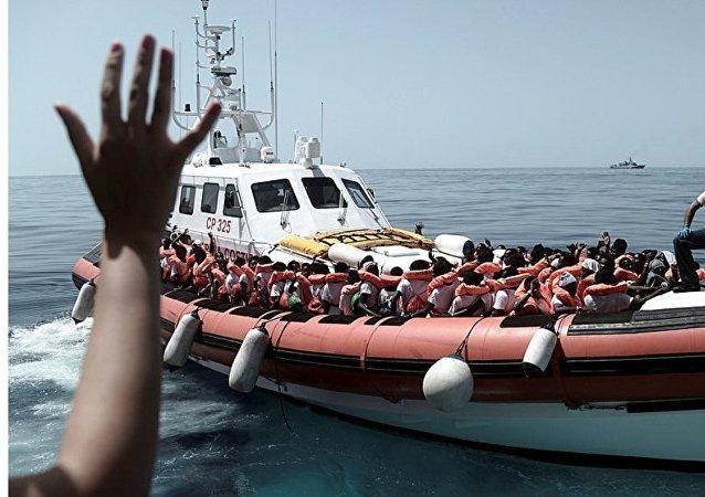 I migranti nella nave Acquarius