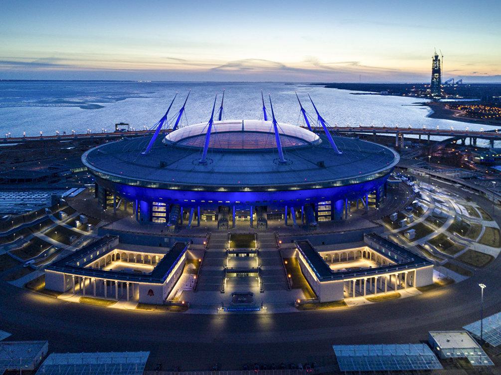 Lo stadio di San Pietroburgo, che ospiterà l'incontro tra Russia ed Egitto