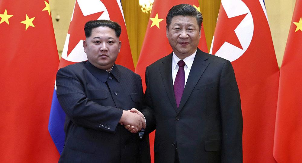Kim Jong Un e Xi Jinping