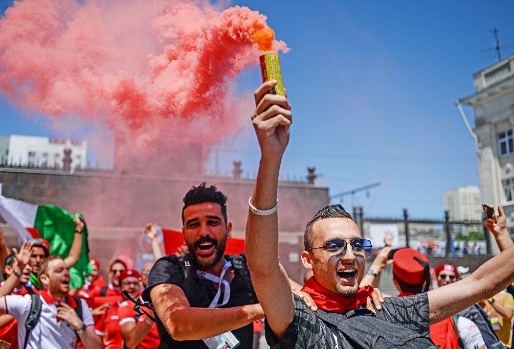Tifosi tunisini in festa nelle vie di Volgograd