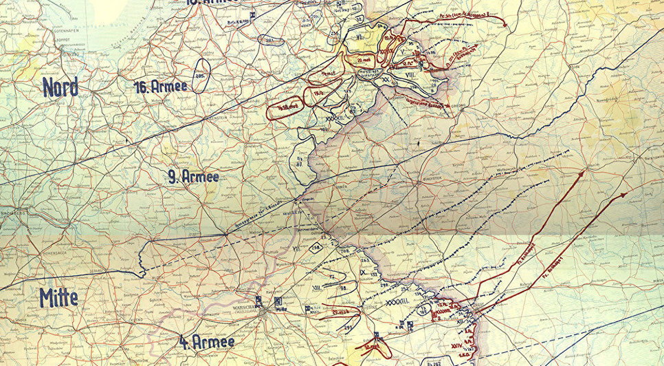 La mappa del Piano Barbarossa. Il 22 giugno 1941