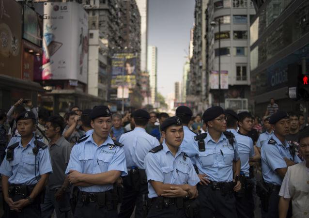 Poliziotti in Cina