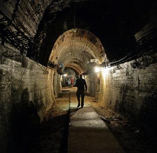 Una galleria sotterranea dei nazi