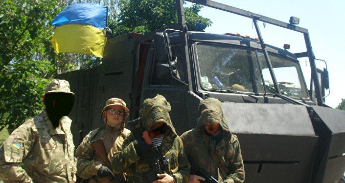 La base del reggimento Azov, Mariupol.