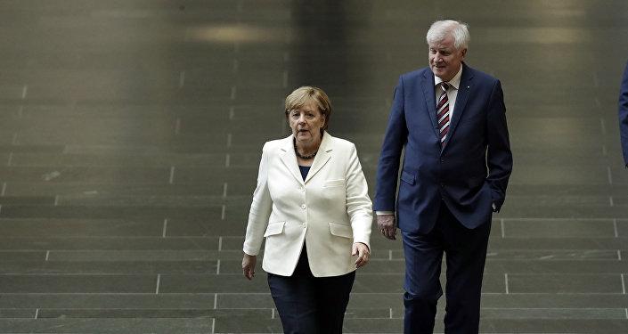 Angela Merkel e Horst Seehofer