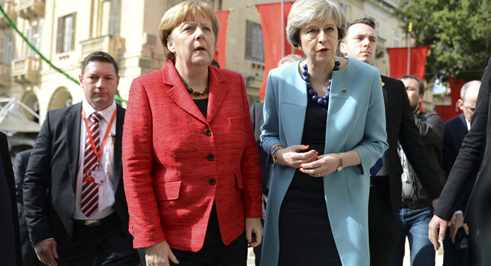 Angela Merkel e Theresa May