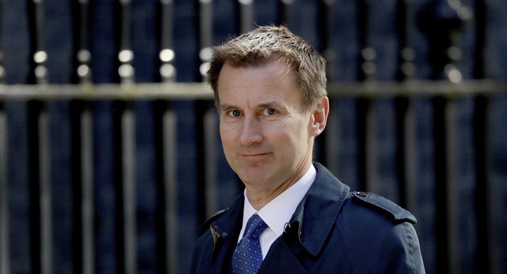 Ministro Esteri britannico Jeremy Hunt