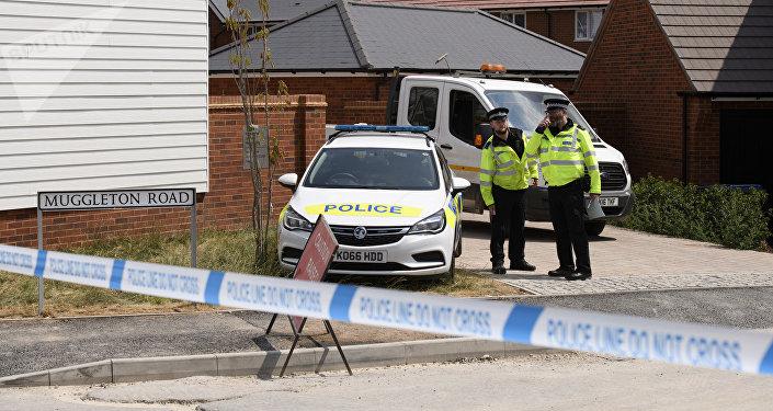 Polizia ad Amesbury, Wiltshire