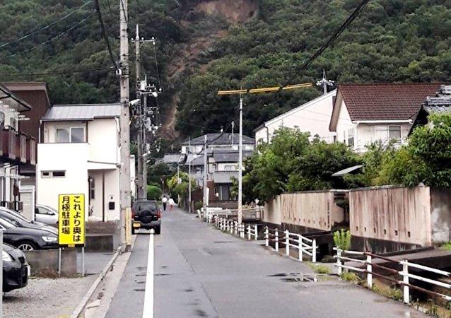 Maltempo in Giappone