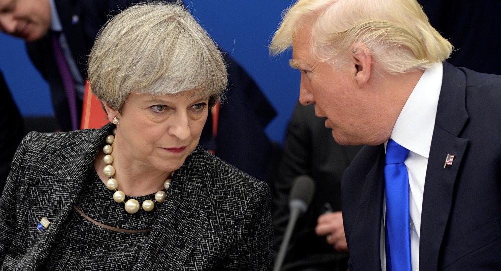 Theresa May e Donald Trump