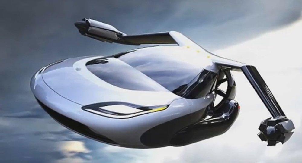 Concept di una macchina volante