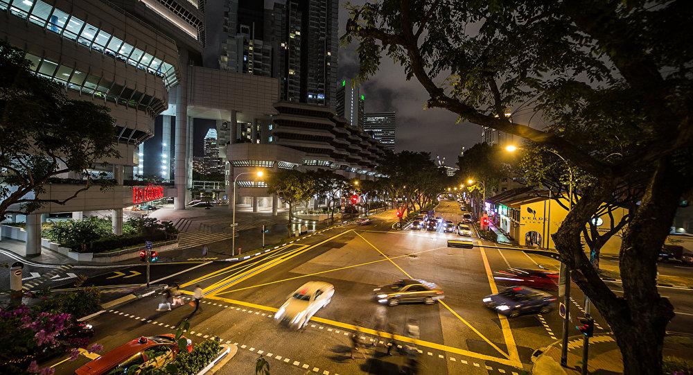 Un incrocio di Singapore