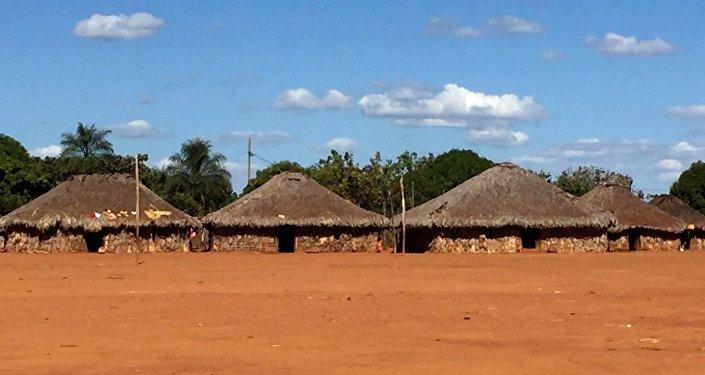 Capanna nel villaggio degli Xavante