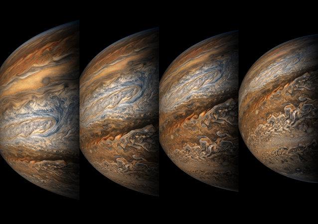 Giove fotografato da Juno