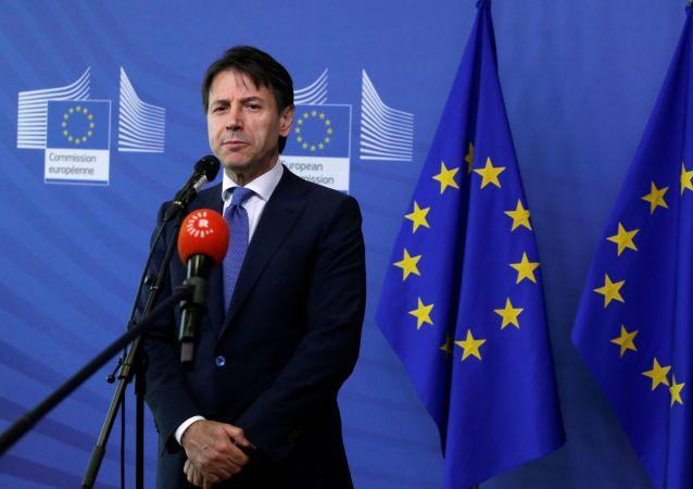 Premier dell'Italia Giuseppe Conte a Bruxelles