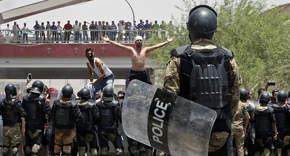 Manifestazioni in Iraq