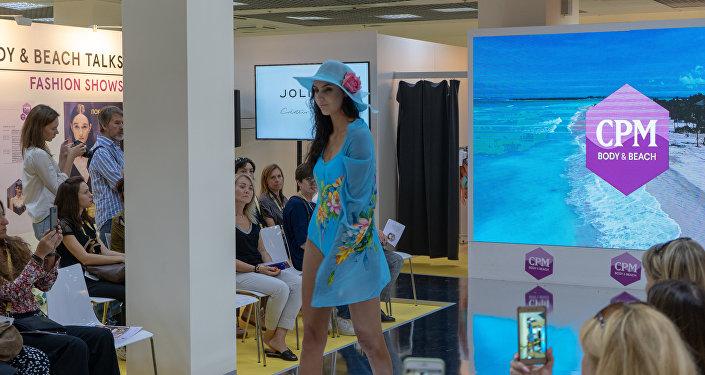 Una sfilata della collezione beachwear a CPM 2018