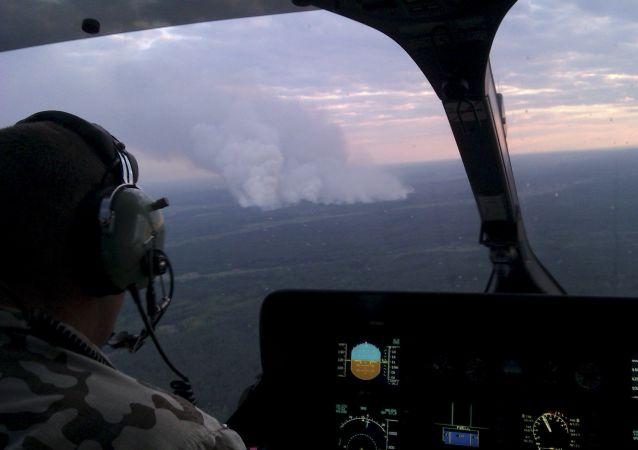 Incendio boschivo nei pressi della centrale di Chernobyl