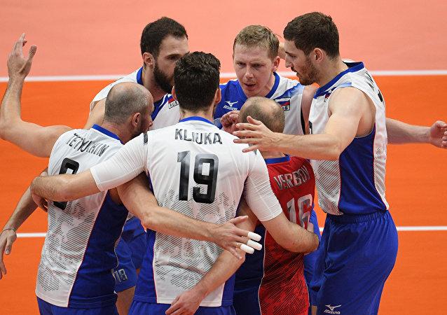Il team russo di pallavolo maschile
