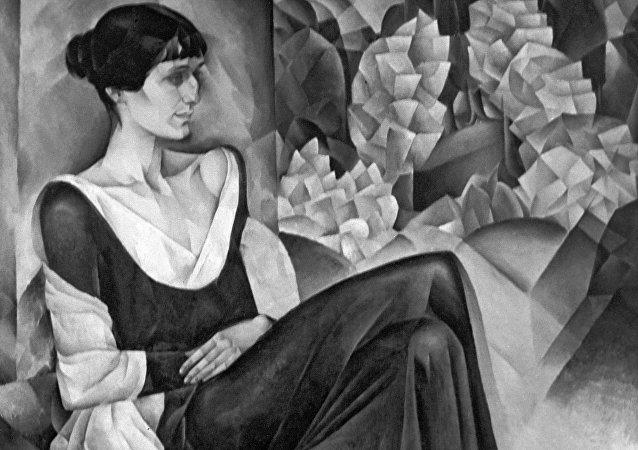 Il ritratto della poetessa russa Anna Akhmatova