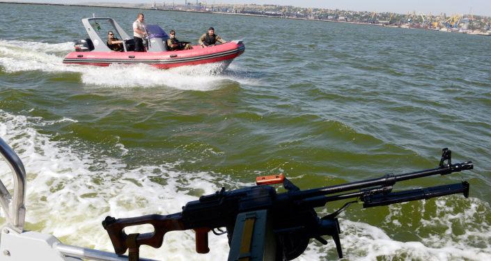 Guardia costiera ucraina nel mar d'Azov