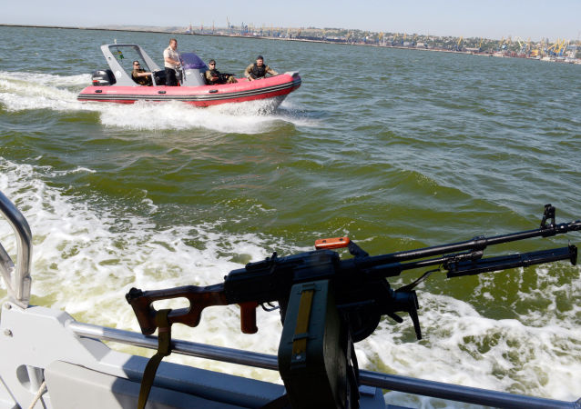 Guardia costiera ucraina nel mar d'Azov