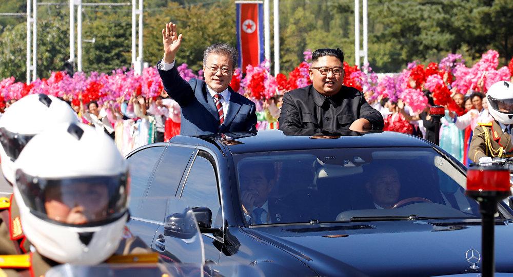 Moon Jae-in e Kim Jong Un