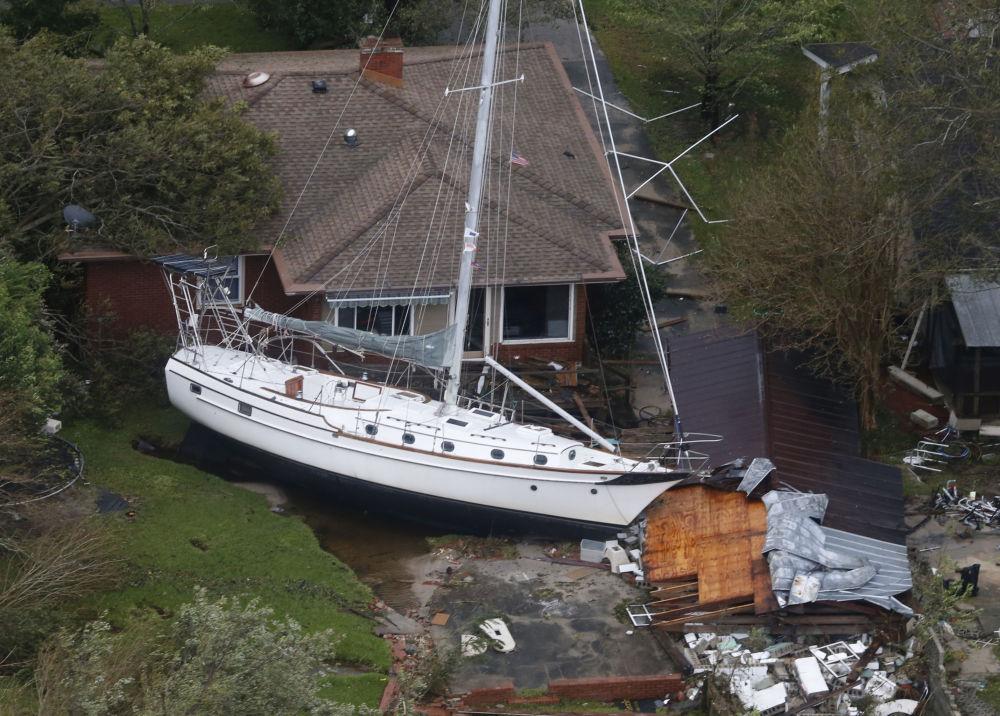 Le conseguenze dell'uragano Florence a New Bern, USA
