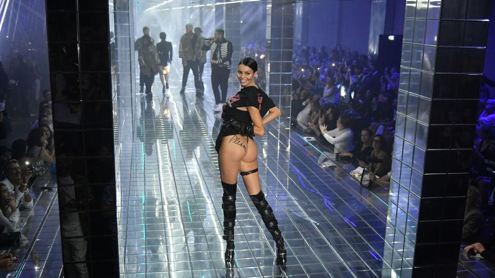 La sfilata di moda Philipp Plein, Milano.