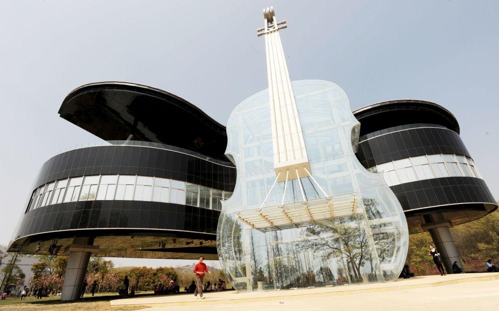 Il palazzo 'Piano House' di Huainan in Cina