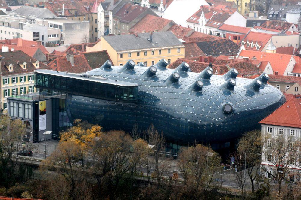 Museo dell'arte 'Kunsthaus' a Graz (Austria)