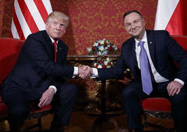 Donald Trump e Andrzej Duda