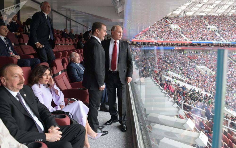 Putin in occasione della partita inaugurale del Campionato del Mondo di Calcio tra Russia e Arabia Saudita