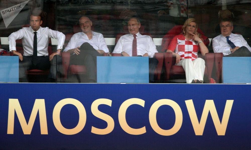Putin durante la finale della Coppa del Mondo 2018 allo stadio Luzhniki
