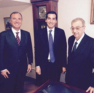 Franco Frattini, Andrea Gianotti e Evgenij Primakov