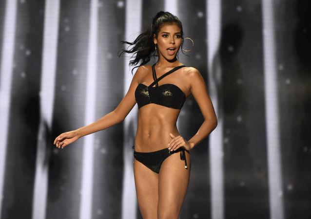 La partecipante del concorso di bellezza Miss Colombia 2018 Miriam Carranza.