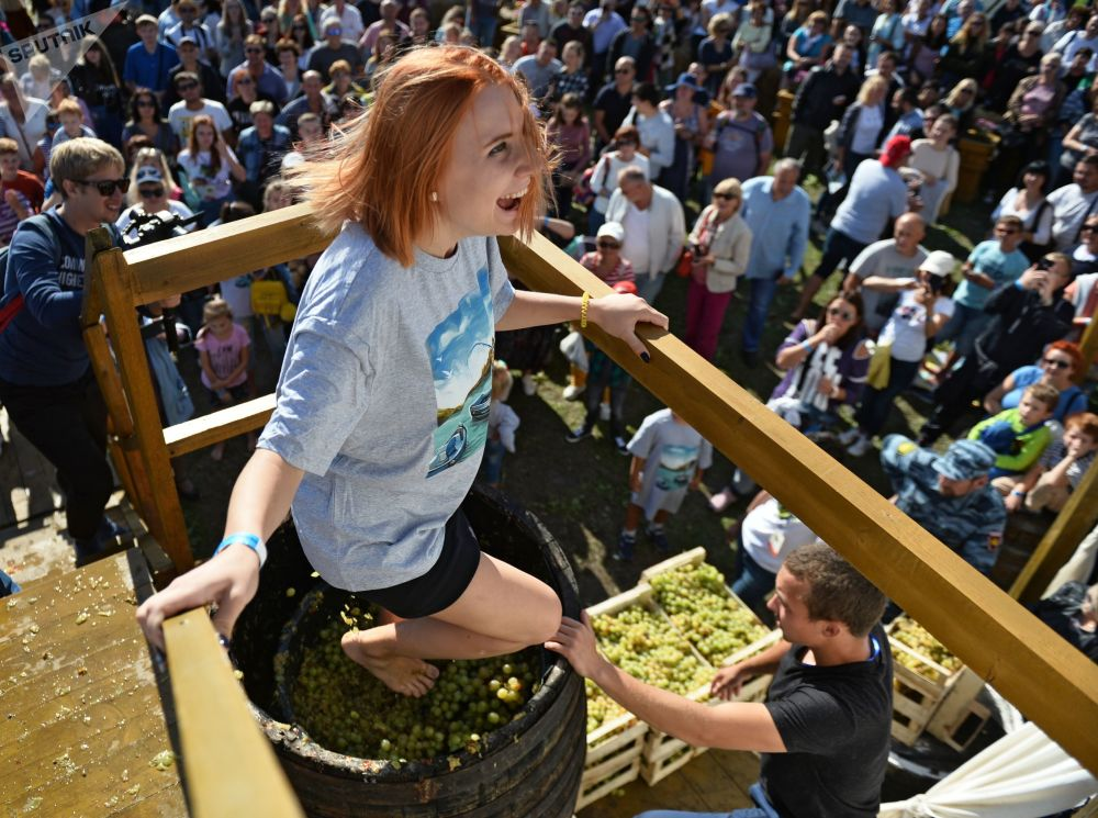 Il festival del vino Winefest a Balaklava, Ucraina.