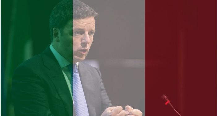 La foto del profilo Facebook di Matteo Renzi con i colori della bandiera italiana