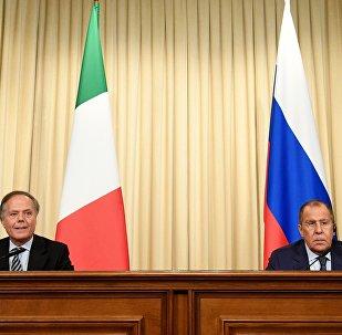 La conferenza stampa di Lavrov e Moavero Milanesi