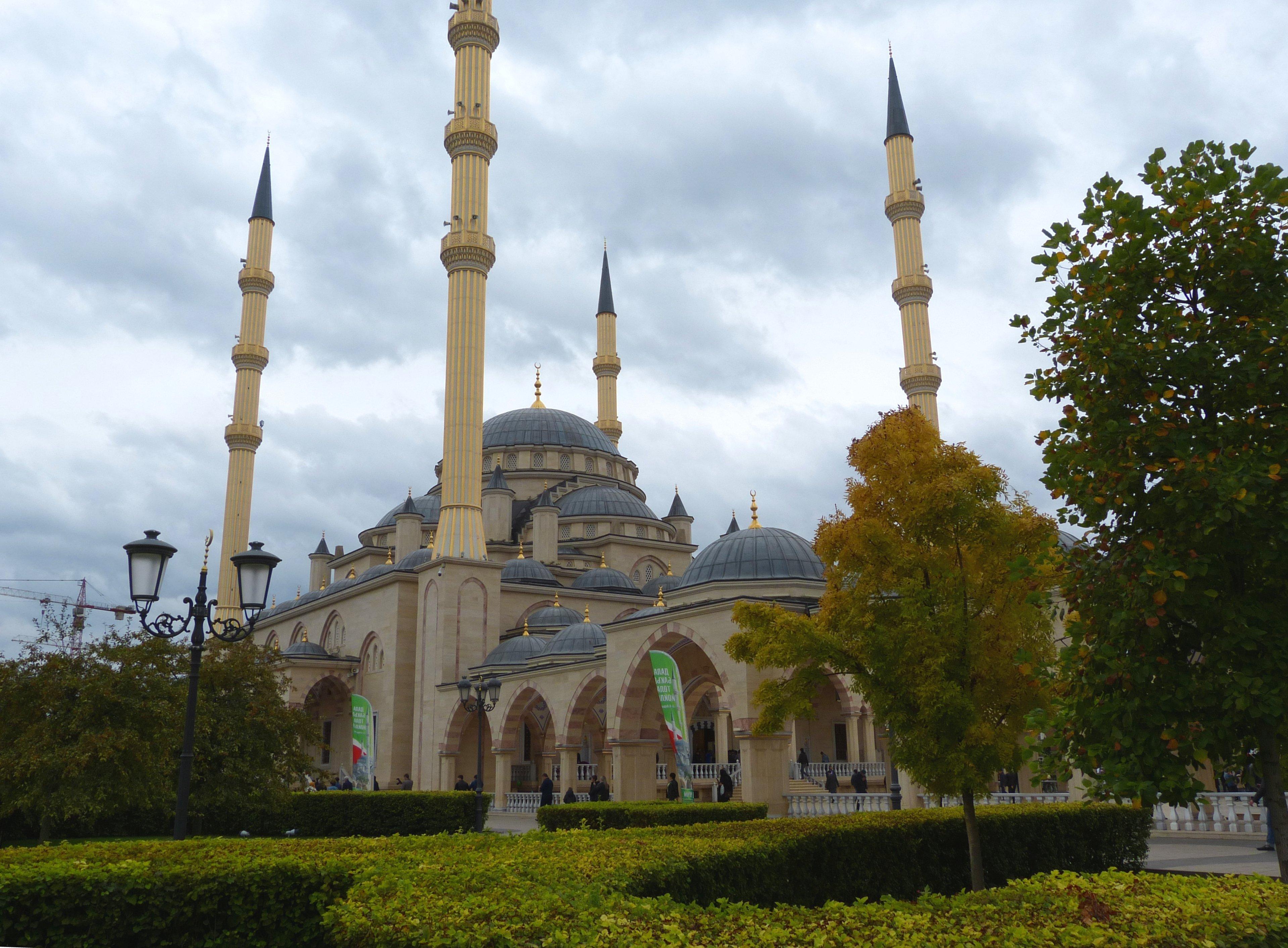 Una moschea a Groznyj