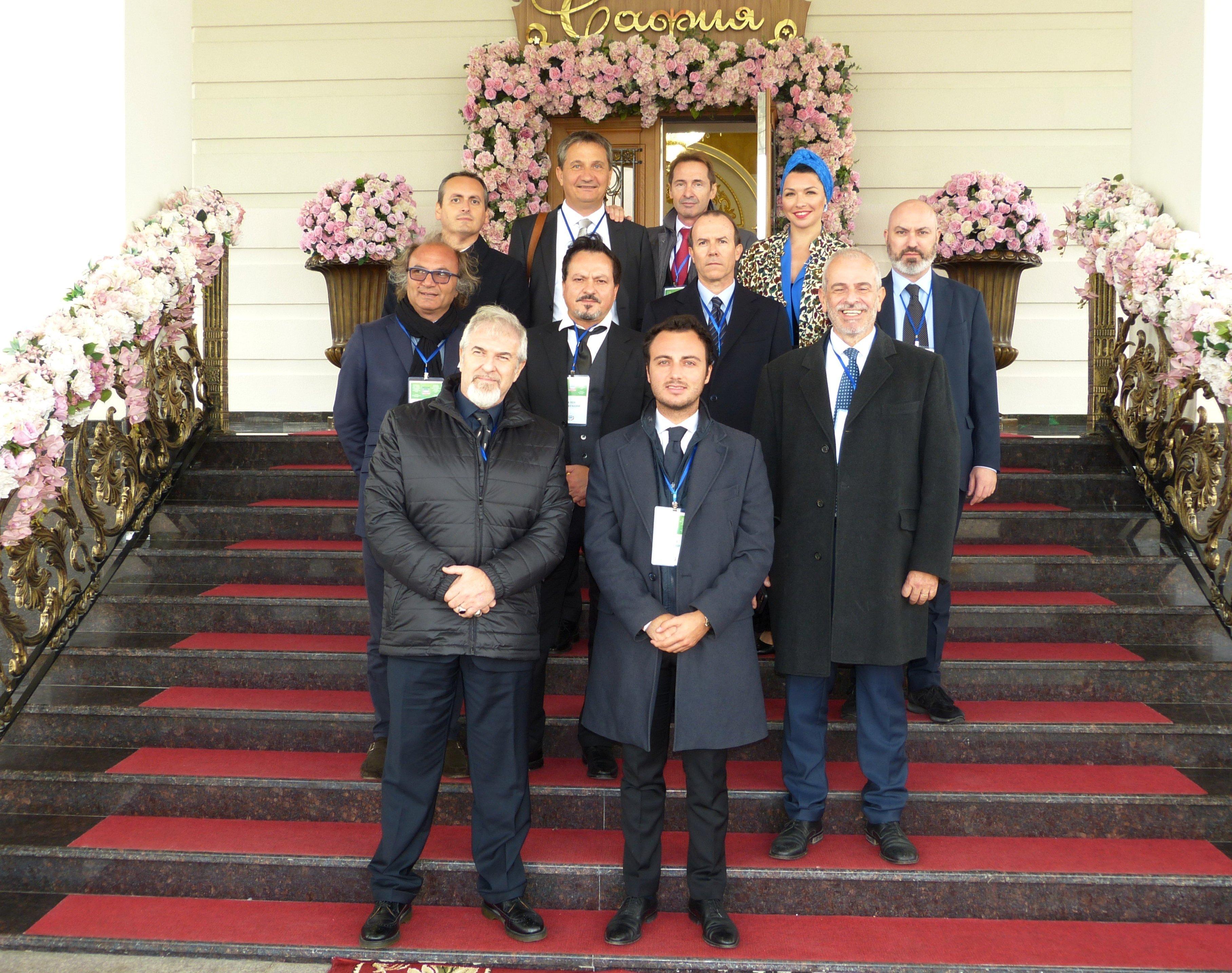 Delegazione italiana in visita a Groznyj