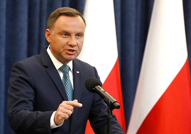 Il presidente della Polonia Andrzej Duda