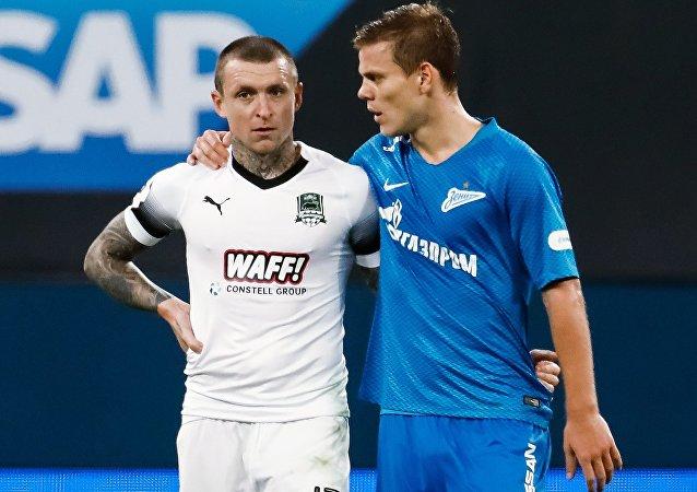 Alexander Kokorin (dx) e Pavel Mamayev (sx)