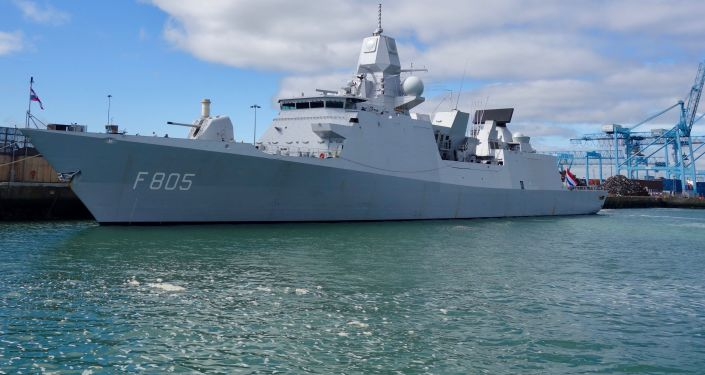 La nave della marina olandese HNLMS Evertsen