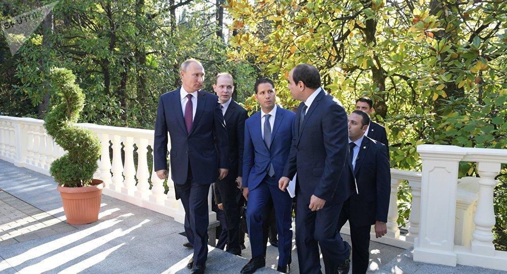 Incontro tra Vladimir Putin e Abdel Fattah al-Sisi