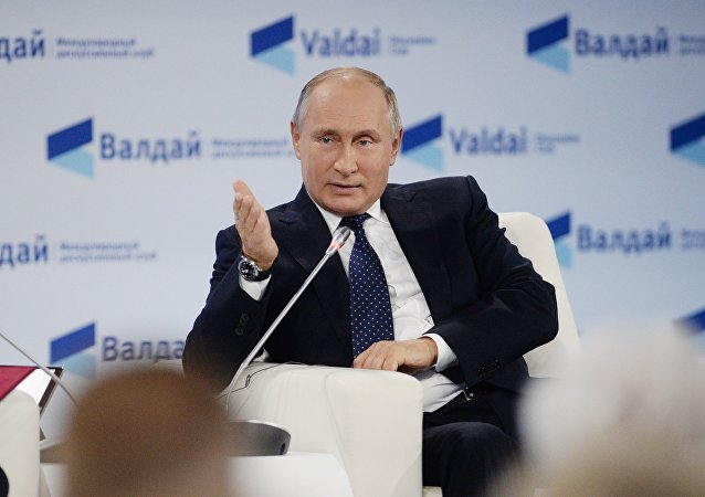 Vladimir Putin all'incontro del Valdai Club