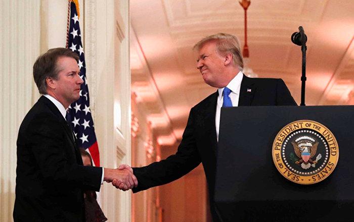 Brett Kavanaugh e Donald Trump