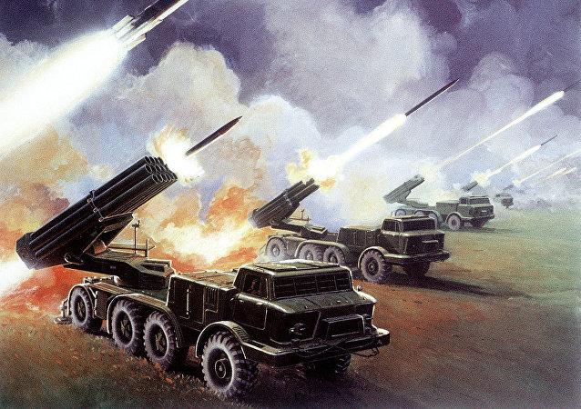Il lanciarazzi multiplo sovietico Uragan