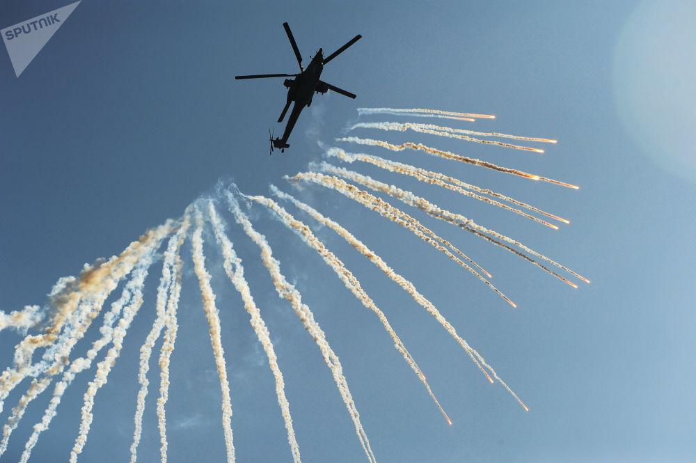 L'elicottero Mi-28N Havoc prende parte alle esercitazioni a Rostov sul Don.