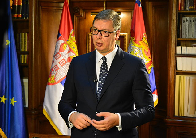 Presidente serbo Aleksandar Vucic